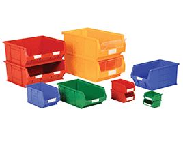 various size and shape storage boxes and containers