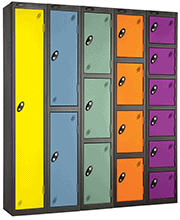 lockers used for storage
