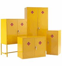 yellow cabinets for hazardous storage