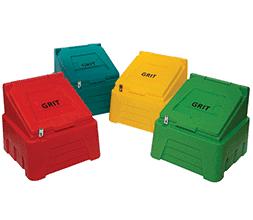 4 grit bins various colours