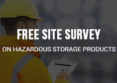 man with clipboard offering a free site survey