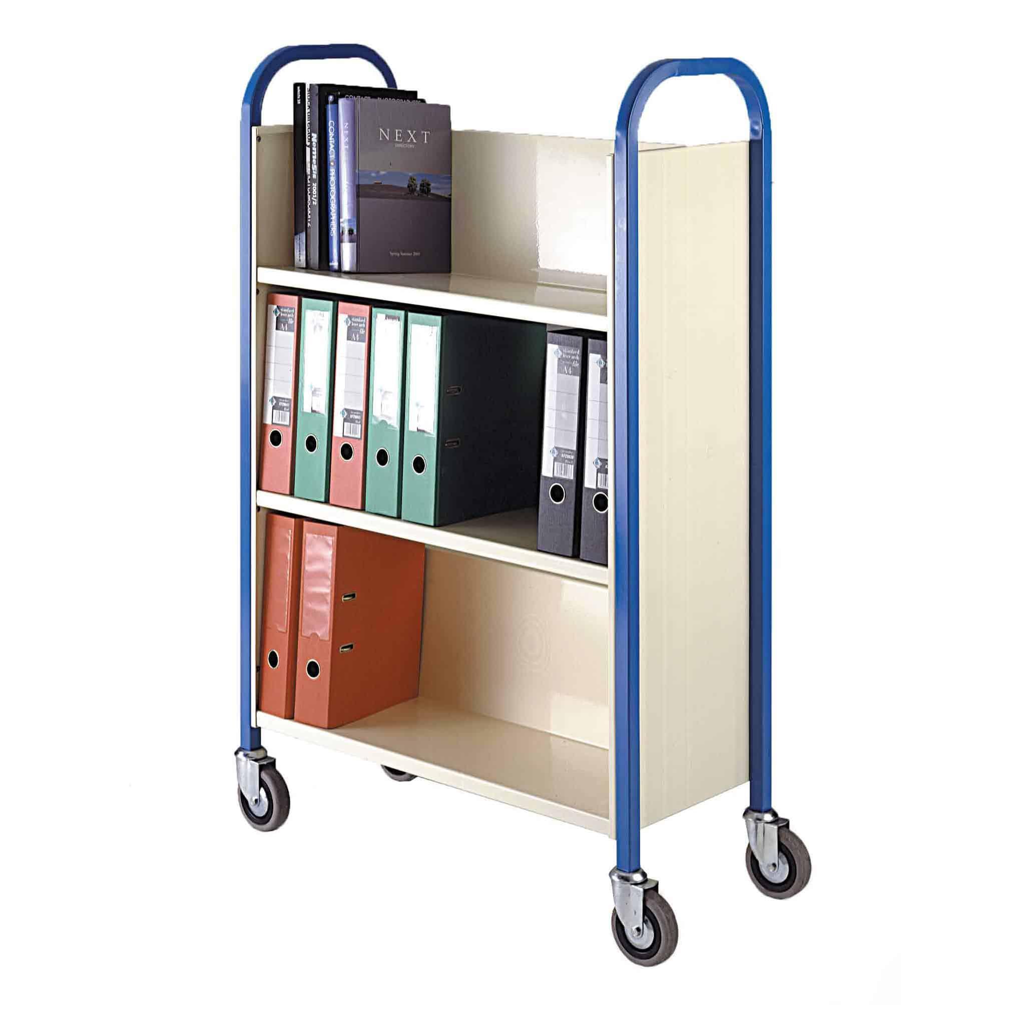 Heavy Duty Steel Shelf Book Trolley