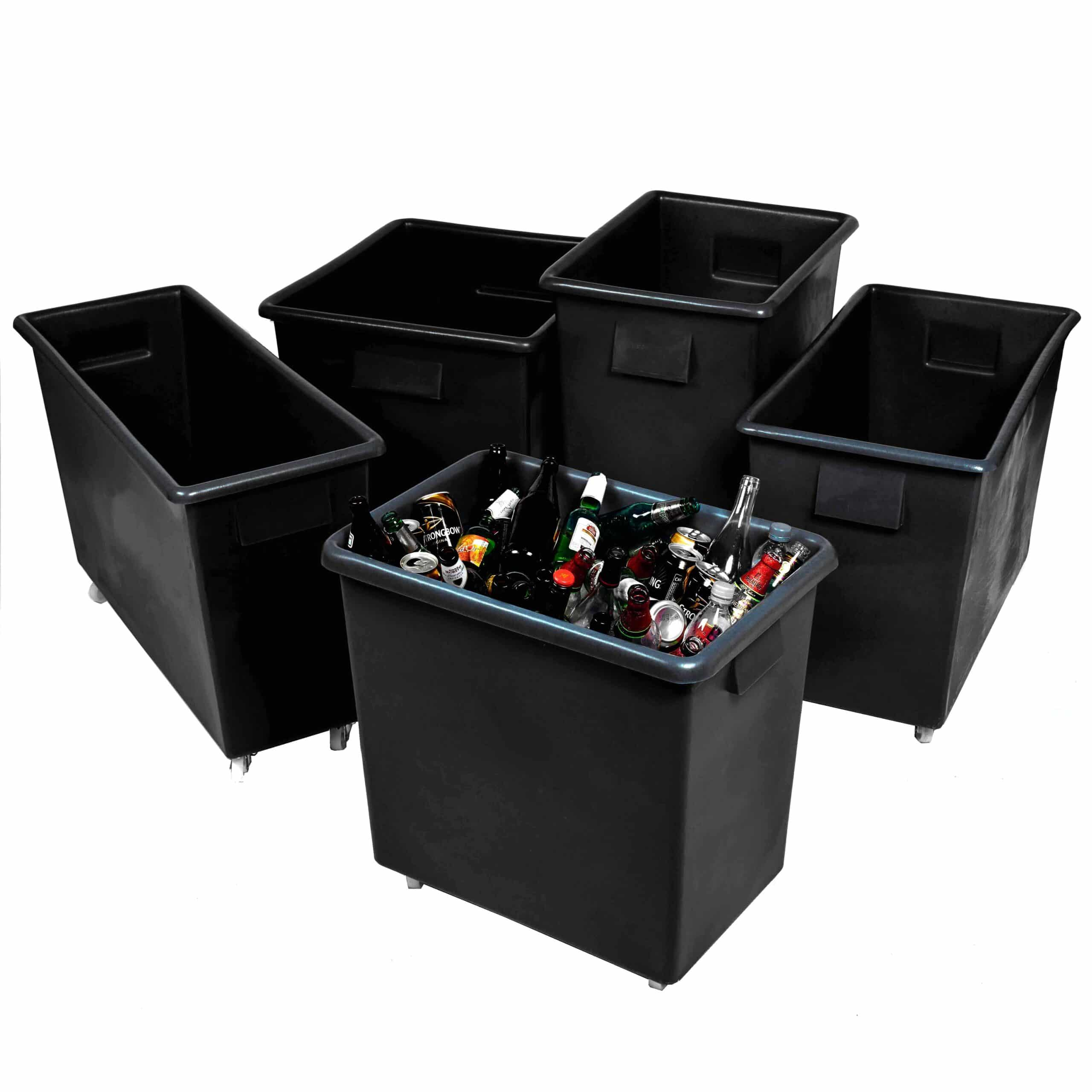 Recycled Black Plastic Bottle Skip Container Trucks
