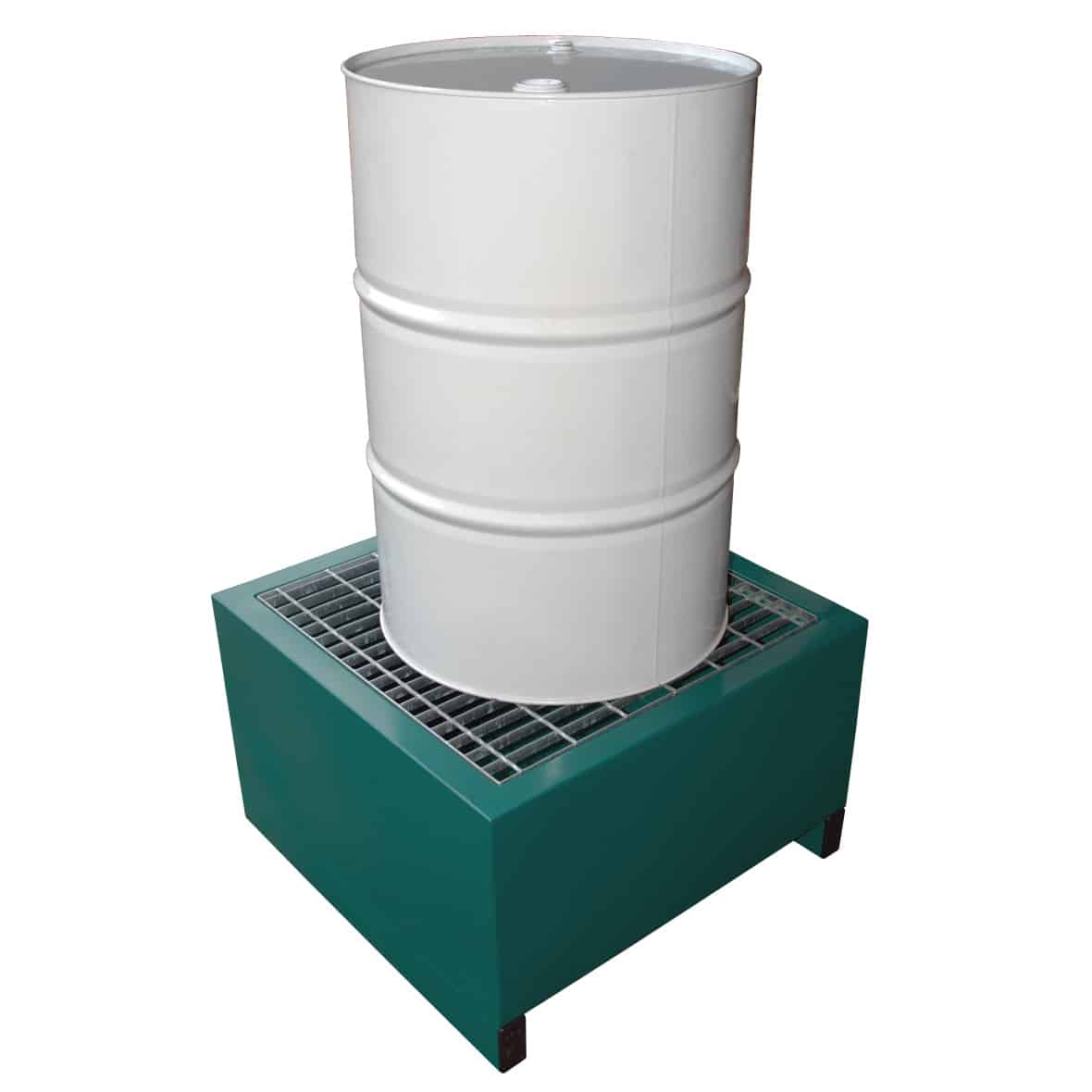 Metal Drum Spill Containment Pallet Holds 1 Drum