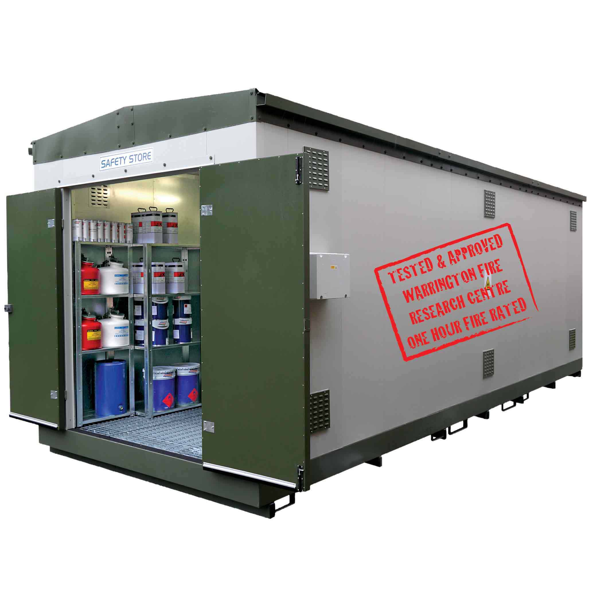 Bunded Fire Rated Relocatable Safety Stores