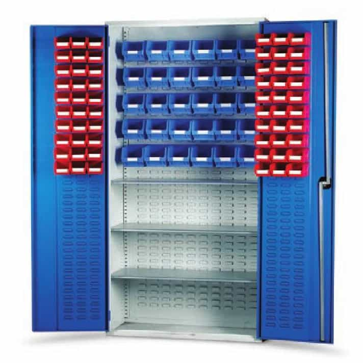 Topstore Louvred Panel Container Cabinet