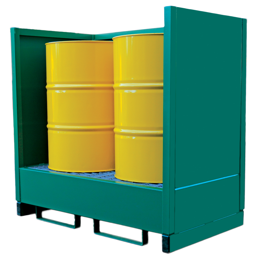 Metal 3 Sided Drum Spill Containment Pallet