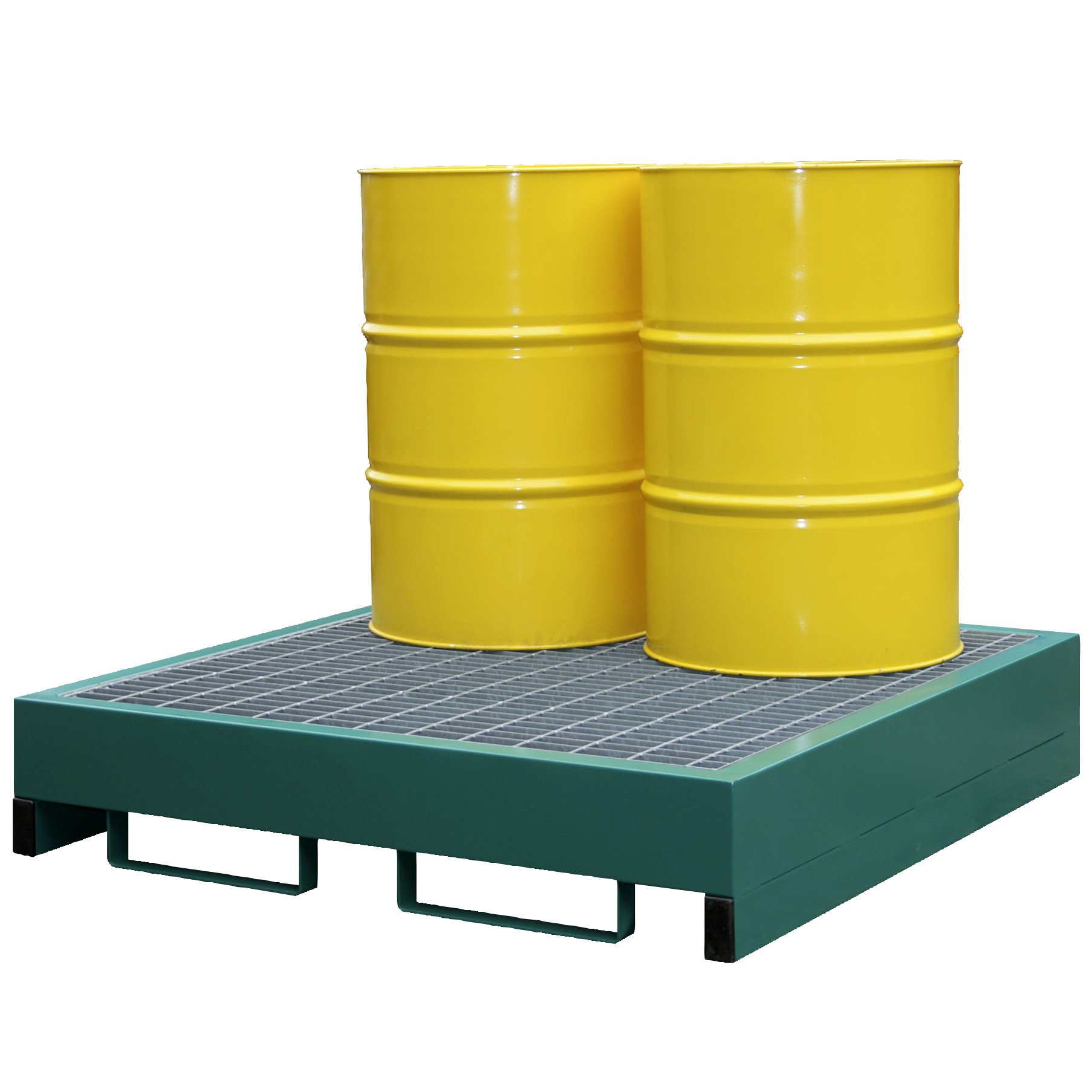 Metal Drum Spill Containment Pallet Holds 4 Drums