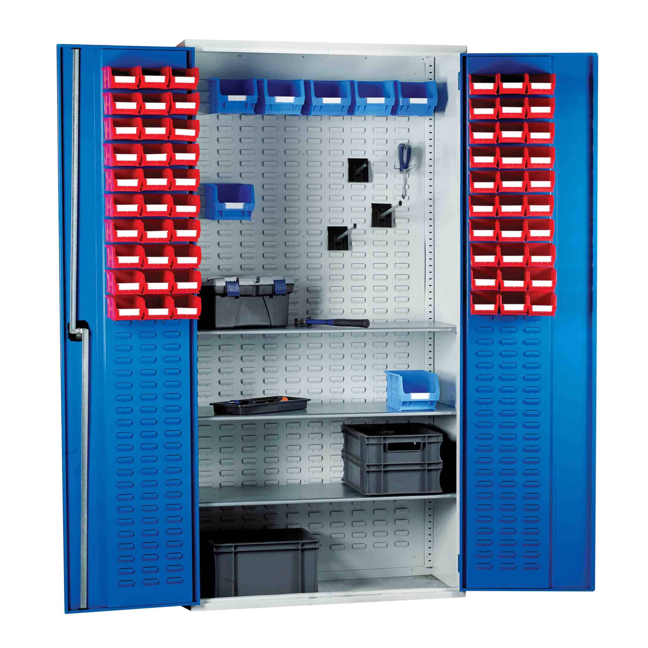 Louvred Panel Cabinet 180 TC Bin Kit