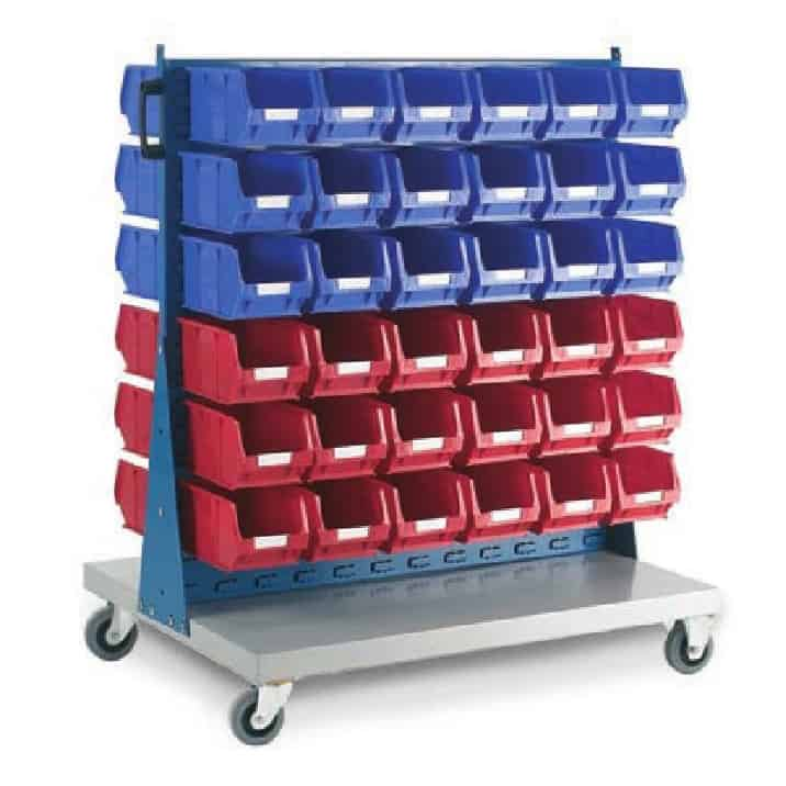 Topstore Double Sided Louvred Panel Trolleys