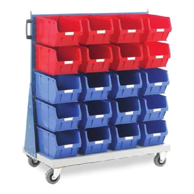 Topstore Single Sided Louvred Panel Trolleys