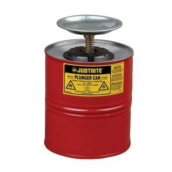 Justrite Metal Safety Plunger Smart Pump Cans