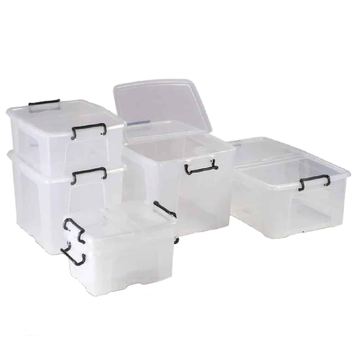 Storemaster Transparent Storage Boxes