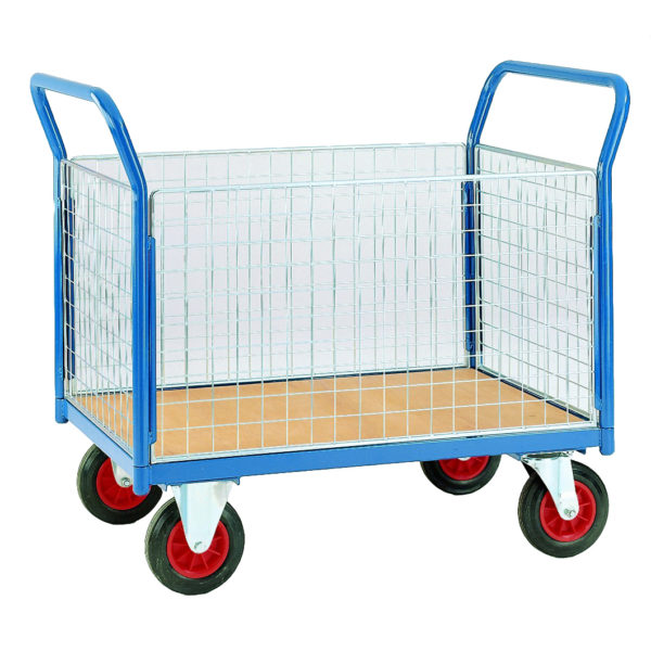 500 4 Sided Mesh Platform Trolleys
