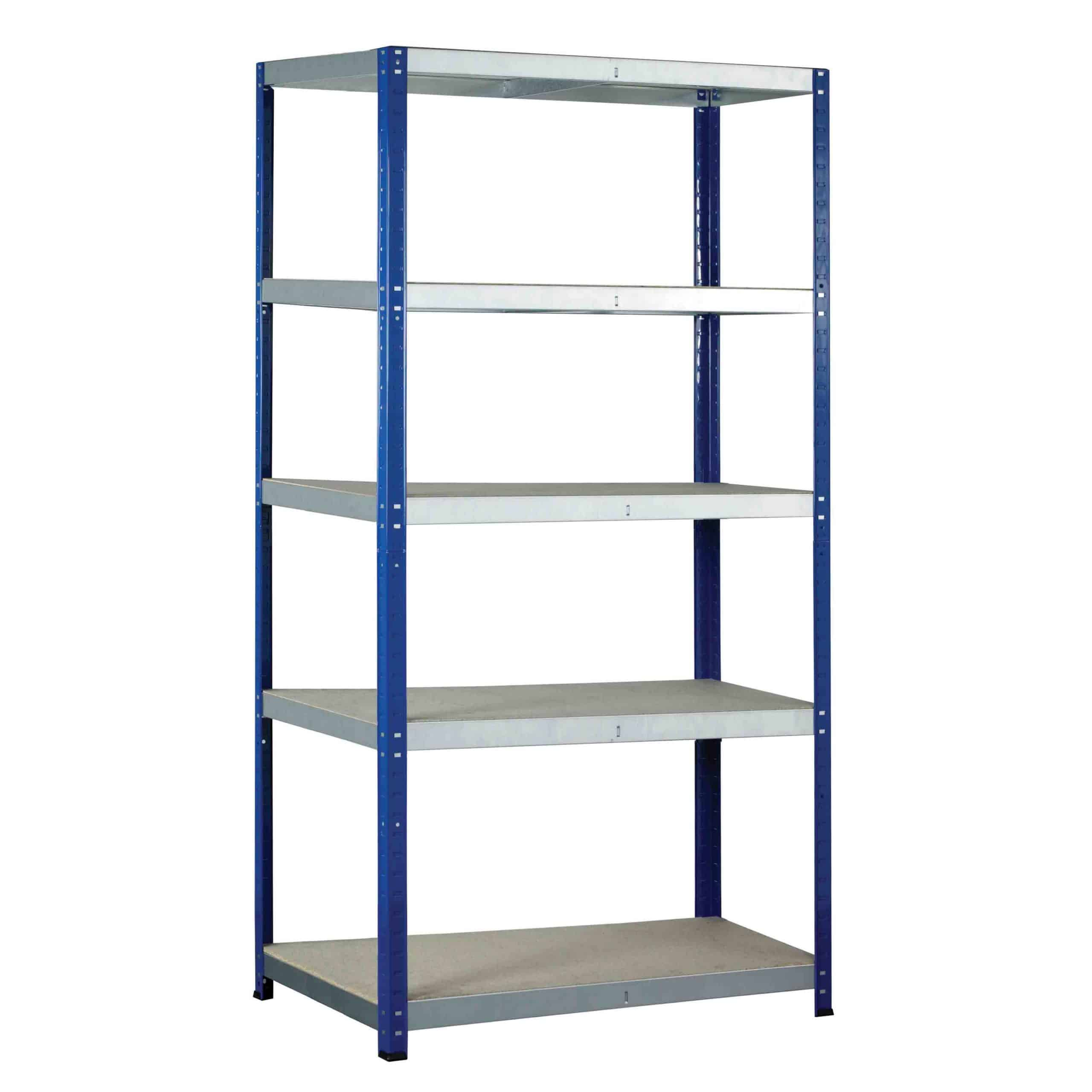 Ecorax Shelving Bays with 5 Chipboard Shelves