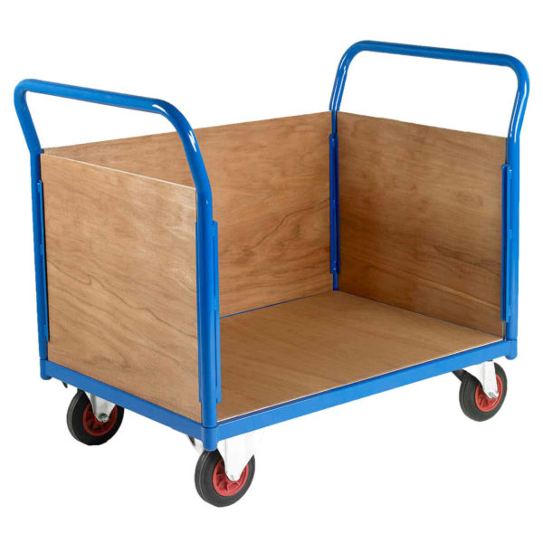 500 3 Sided Timber Platform Trolleys