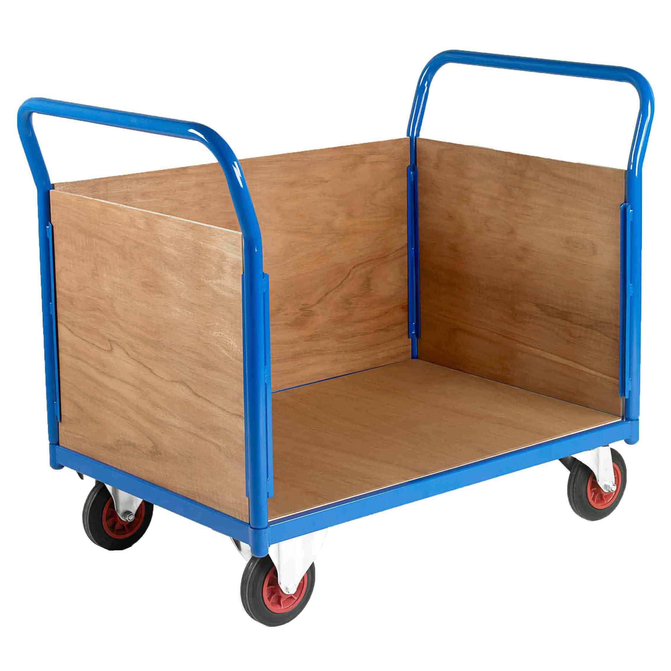 500 3 Sided Timber Platform Trolleys