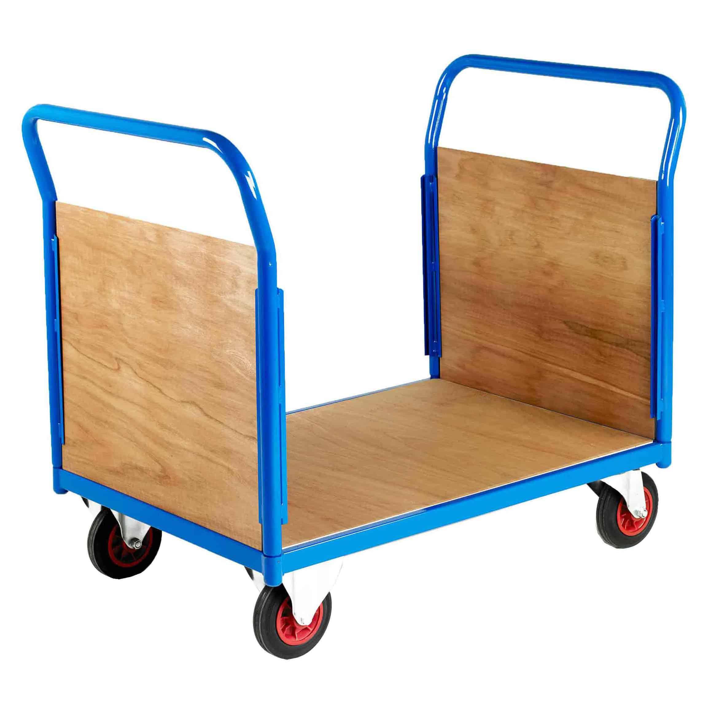 500 Double End Timber Platform Trolleys