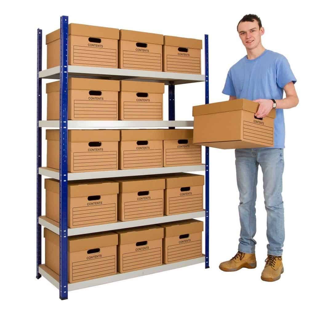 Clicka 265 Archive Box Steel Shelving System