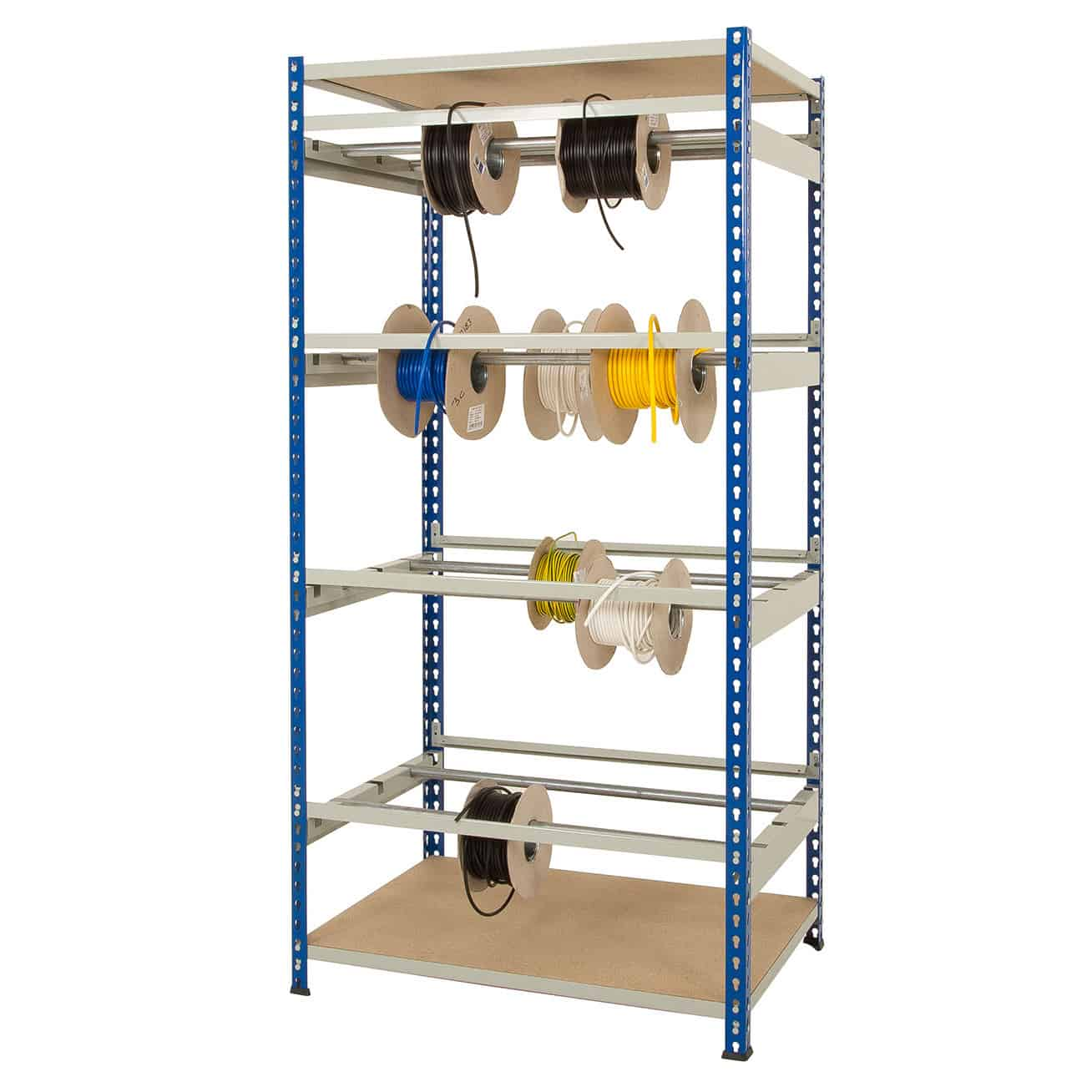 Rivet Static Cable Reel Storage Racks