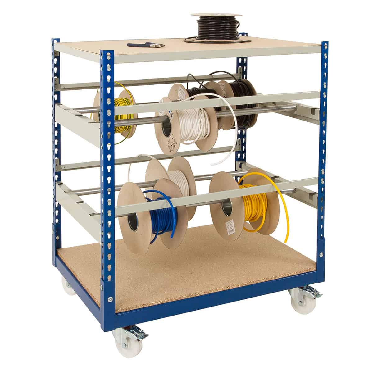 Rivet Mobile Cable Reel Storage Racks