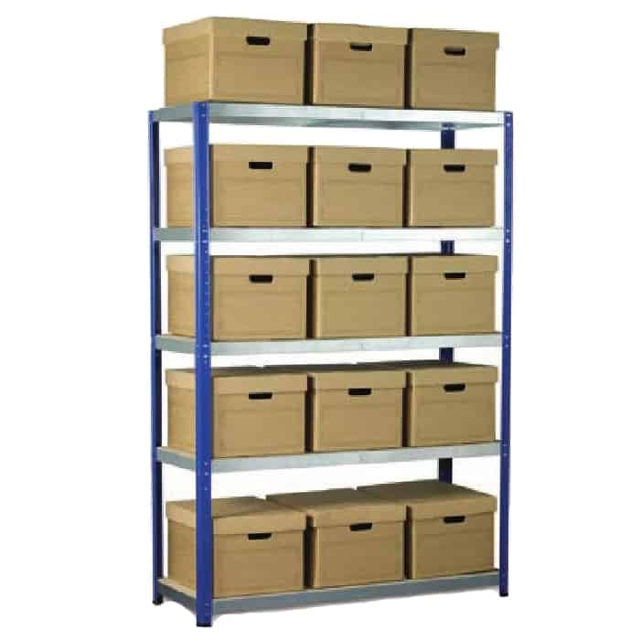 Ecorax Shelving with 15 Archive Boxes