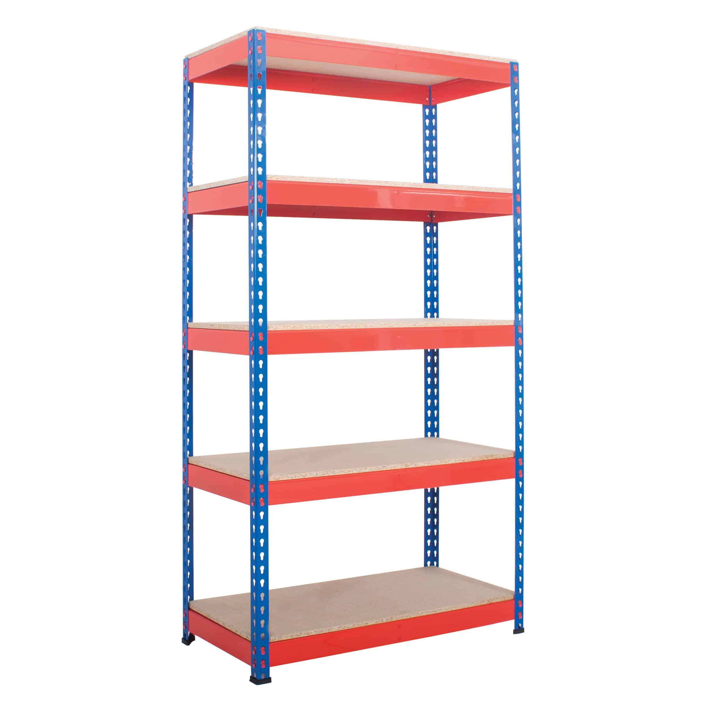 Heavy Duty Industrial Rivet Racking 5 Shelves
