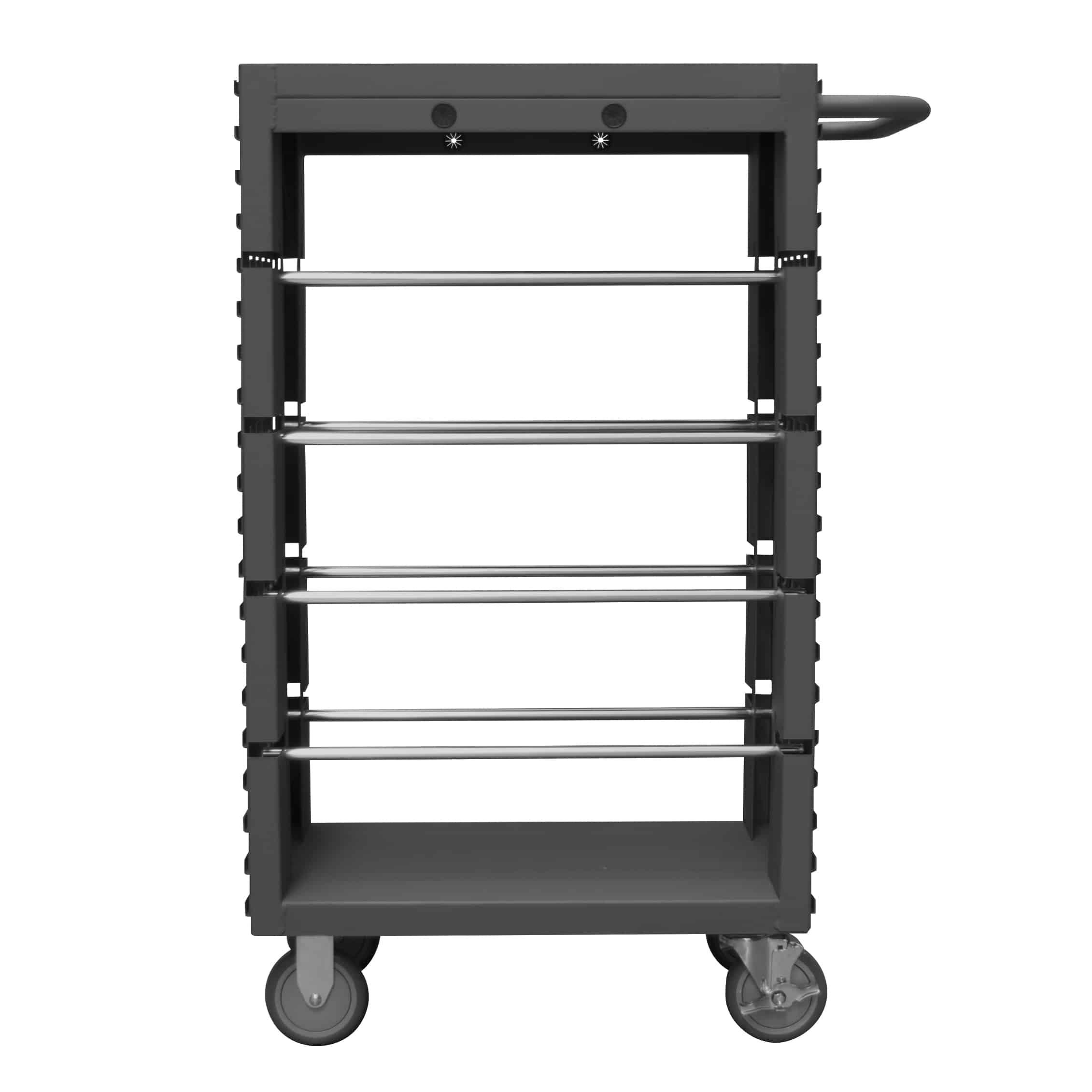 8 Rod Steel Mobile Wire Spool Rack Trolley | Storage N Stuff