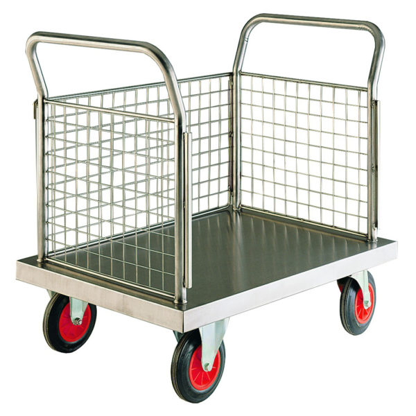 Stainless Steel 3 Sided Platform Trolleys
