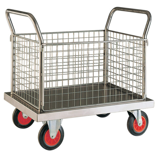 Stainless Steel 4 Sided Platform Trolleys