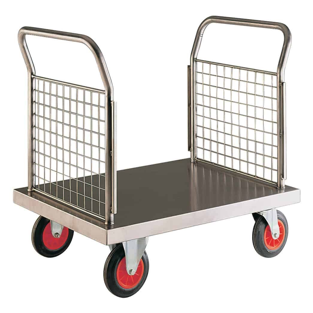 Stainless Steel Double End Platform Trolleys