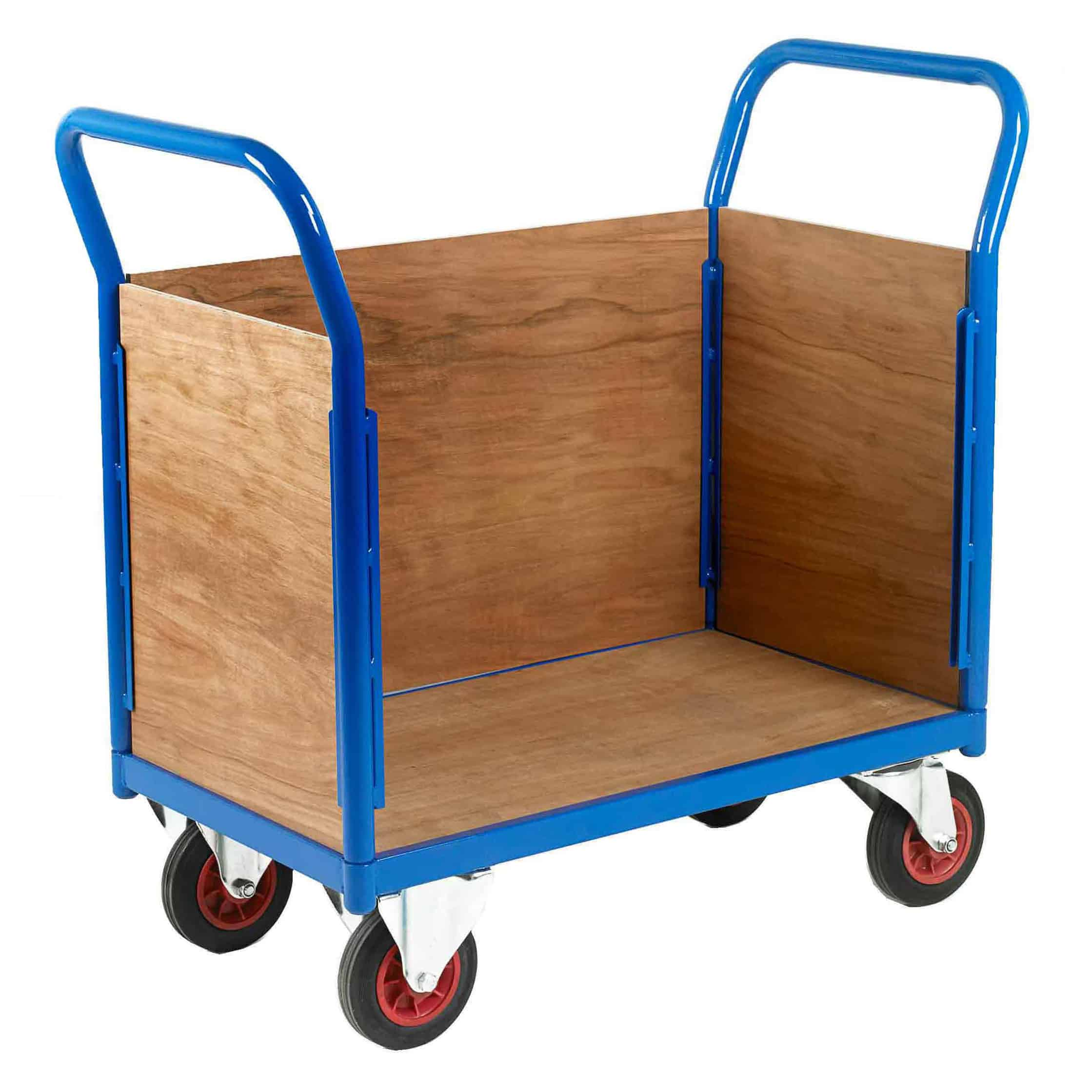 3 Sided Timber Platform Trolleys