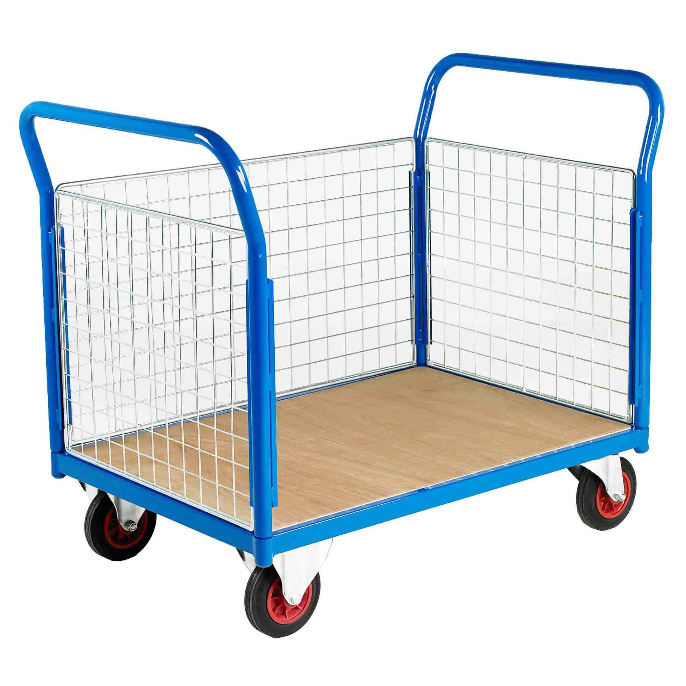500 3 Sided Mesh Platform Trolleys