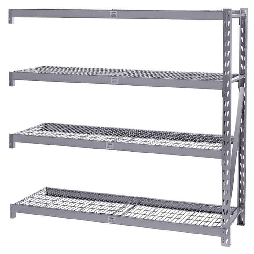 Heavy Duty Steel 4 Shelf Unit Extension Bay