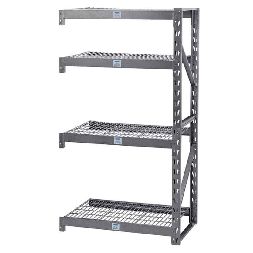 Heavy Duty Steel 4 Shelving Unit Extension Bay