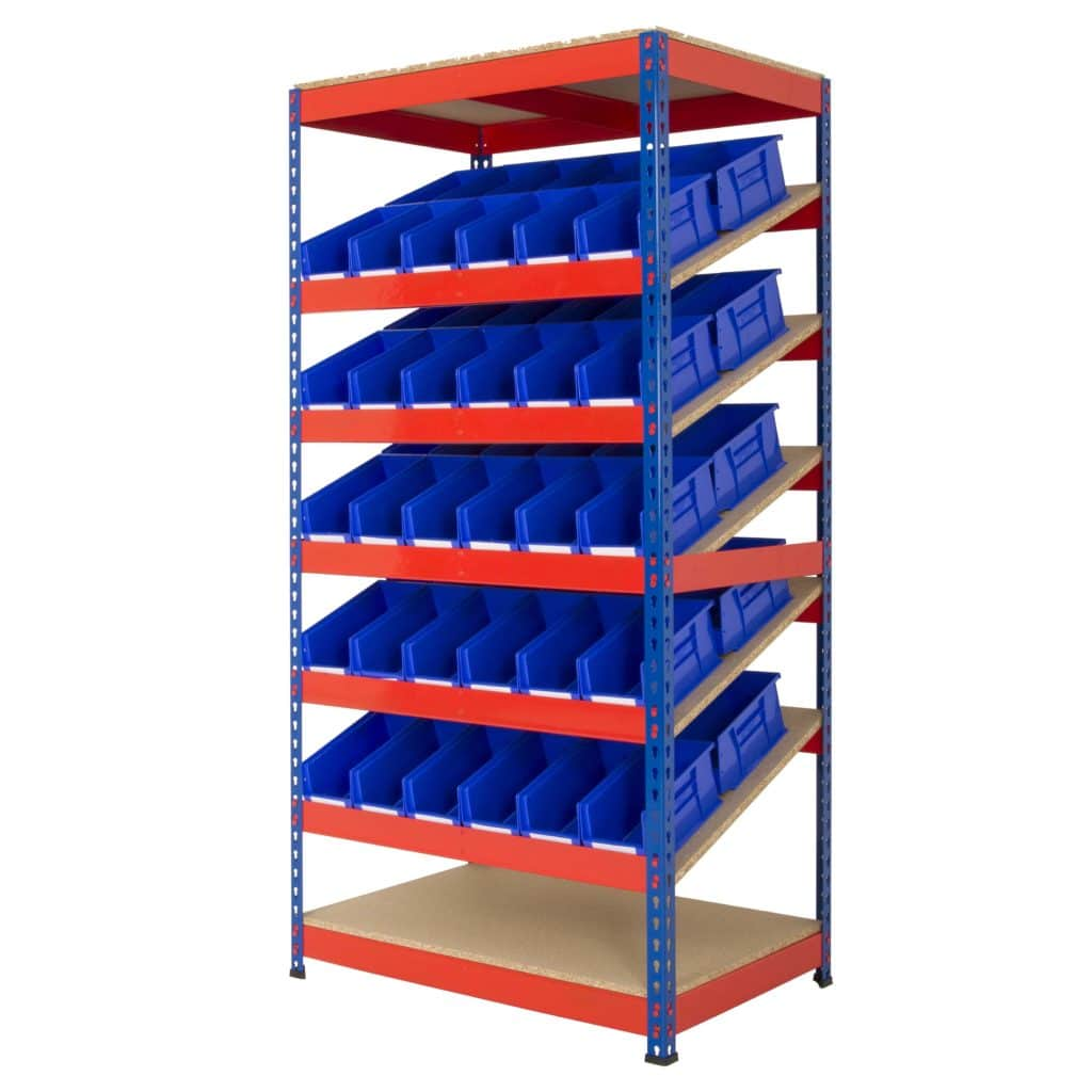 Rivet Racking Kanban Plastic Bin Shelving Storage N Stuff