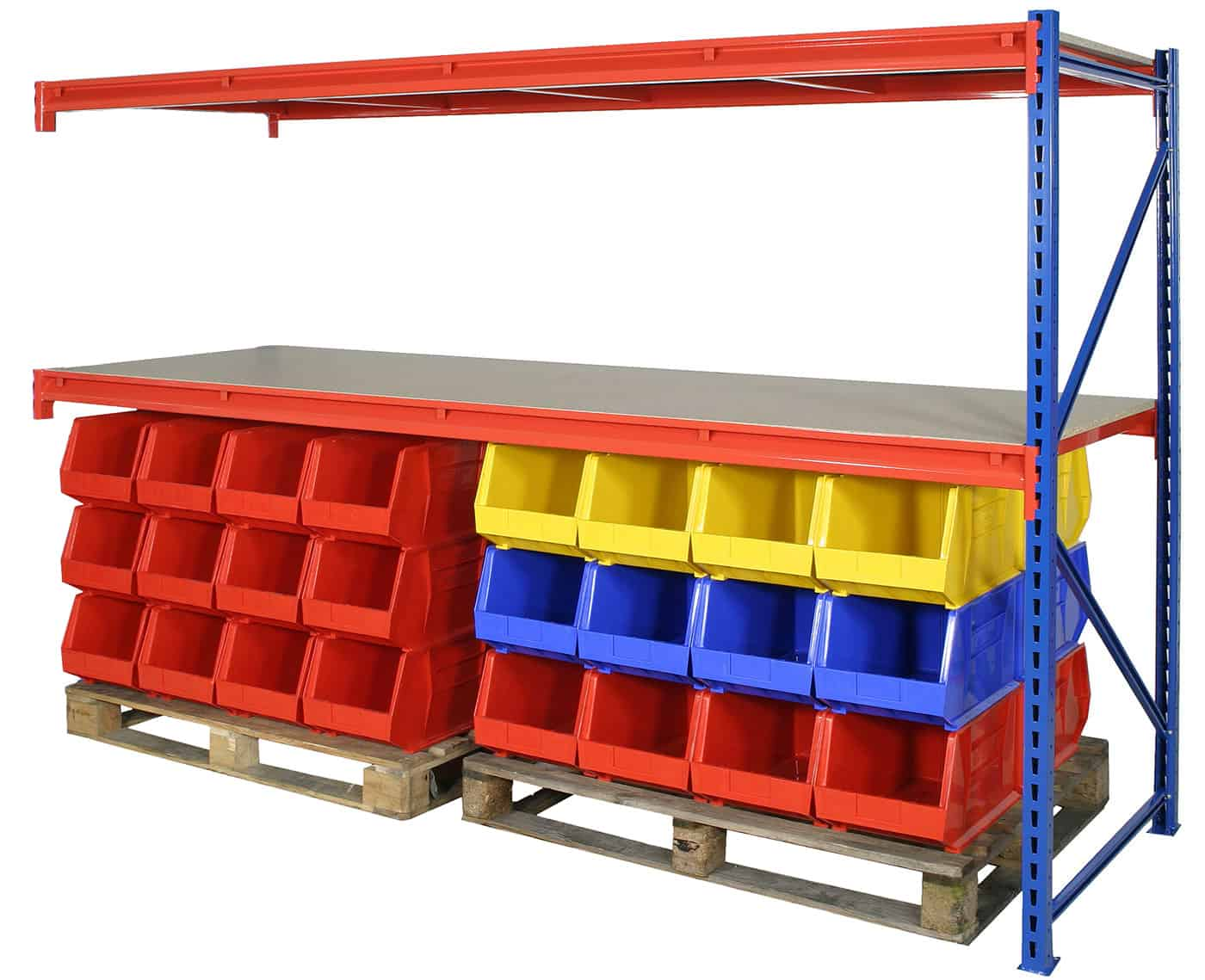 Heavy Duty Longspan Steel Shelving Extension Bay