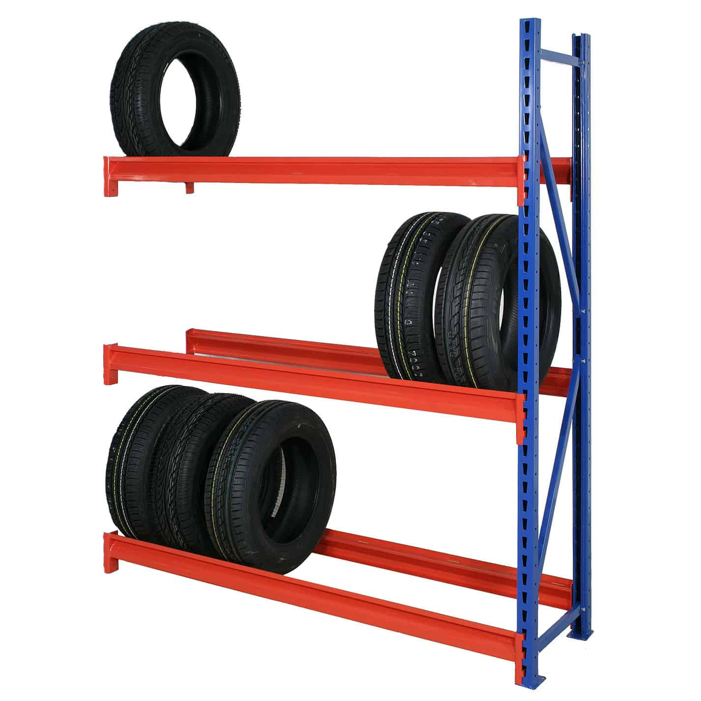 Longspan Heavy Duty Steel Tyre Racking Extension Bay