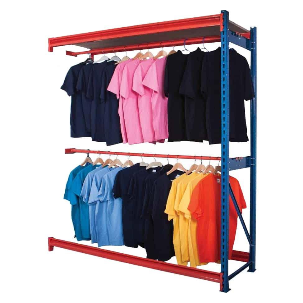 Longspan Centre Garment Hanging Rail Extension Bay