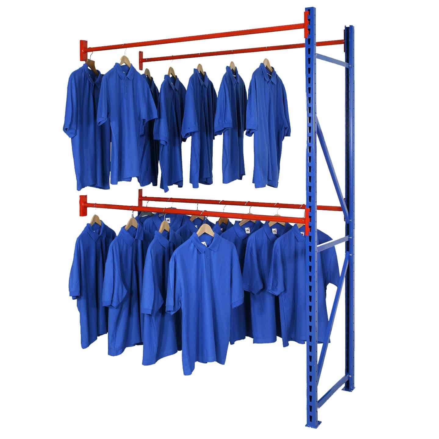 Longspan Garment Hanging Rail Racking Extension Bay