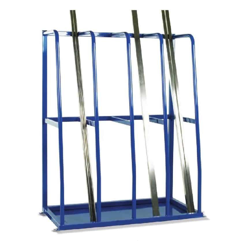 Multi-Section Vertical Bar Steel Storage Rack