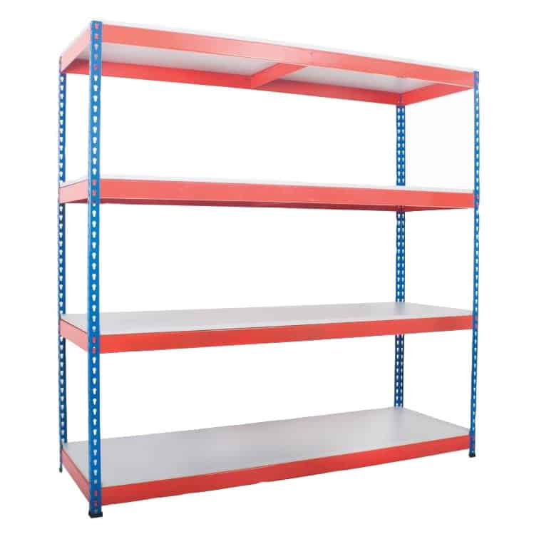 Heavy Duty Rivet Melamine Shelf Racking