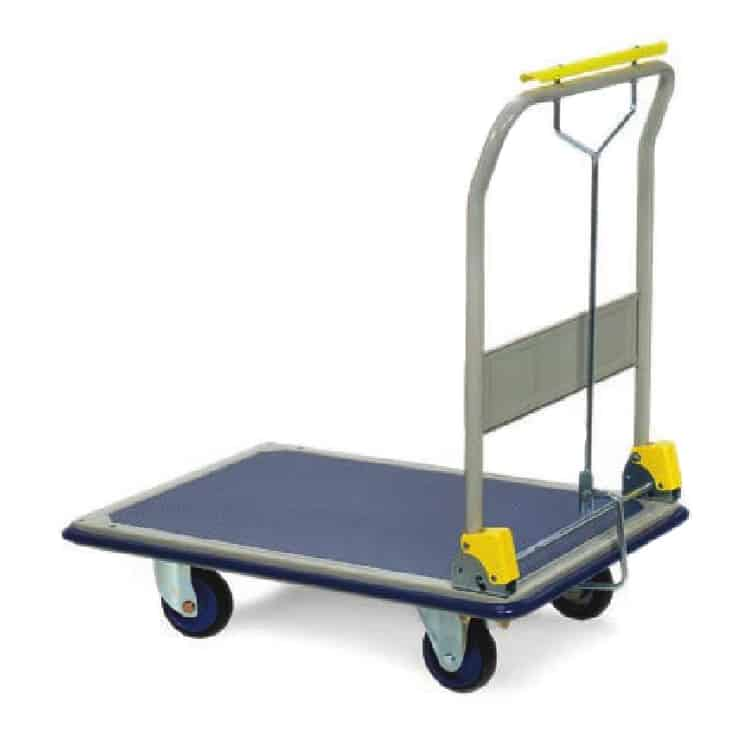 Folding Steel Flatbed Braked Trolley