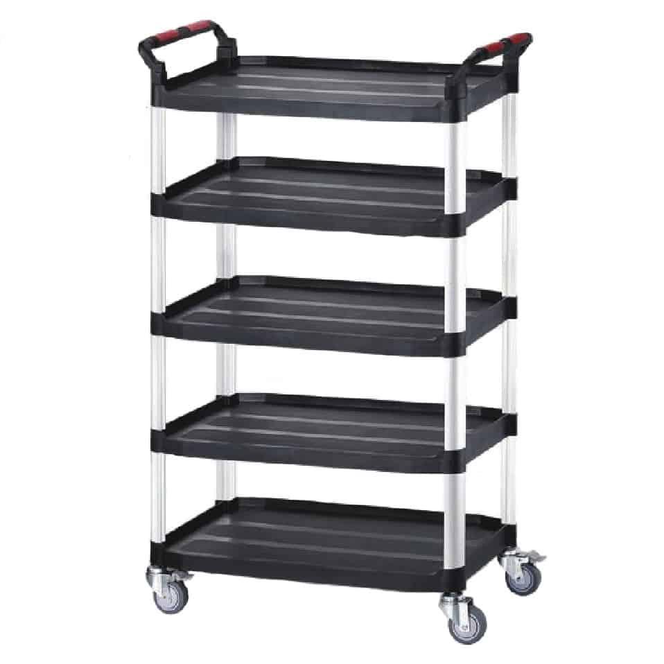 Robust Plastic 5 Shelf Utility Tray Trolleys