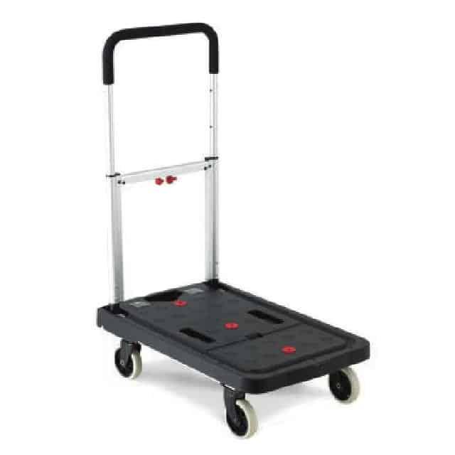 Plastic Folding Flatbed Trolley 120kg Capacity