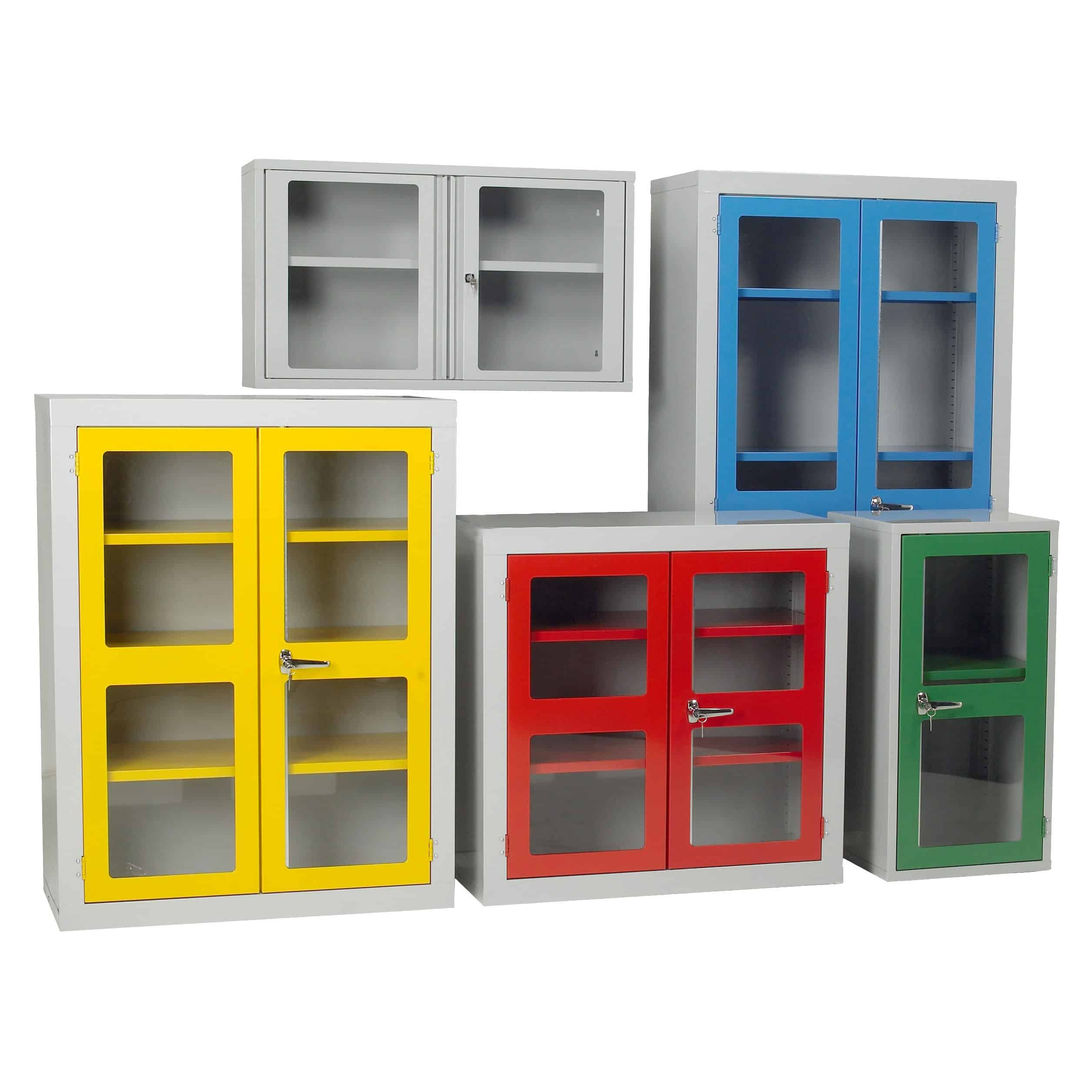 Polycarbonate Door Steel Storage Cupboards