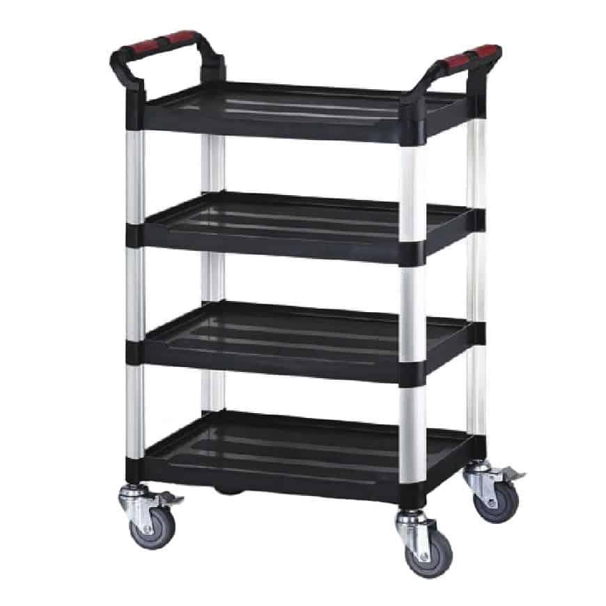 Robust Plastic 4 Shelf Utility Tray Trolleys