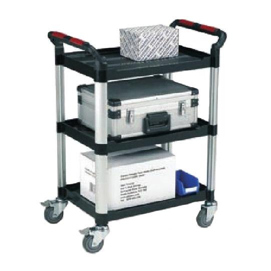 Robust Plastic 3 Shelf Utility Tray Trolleys