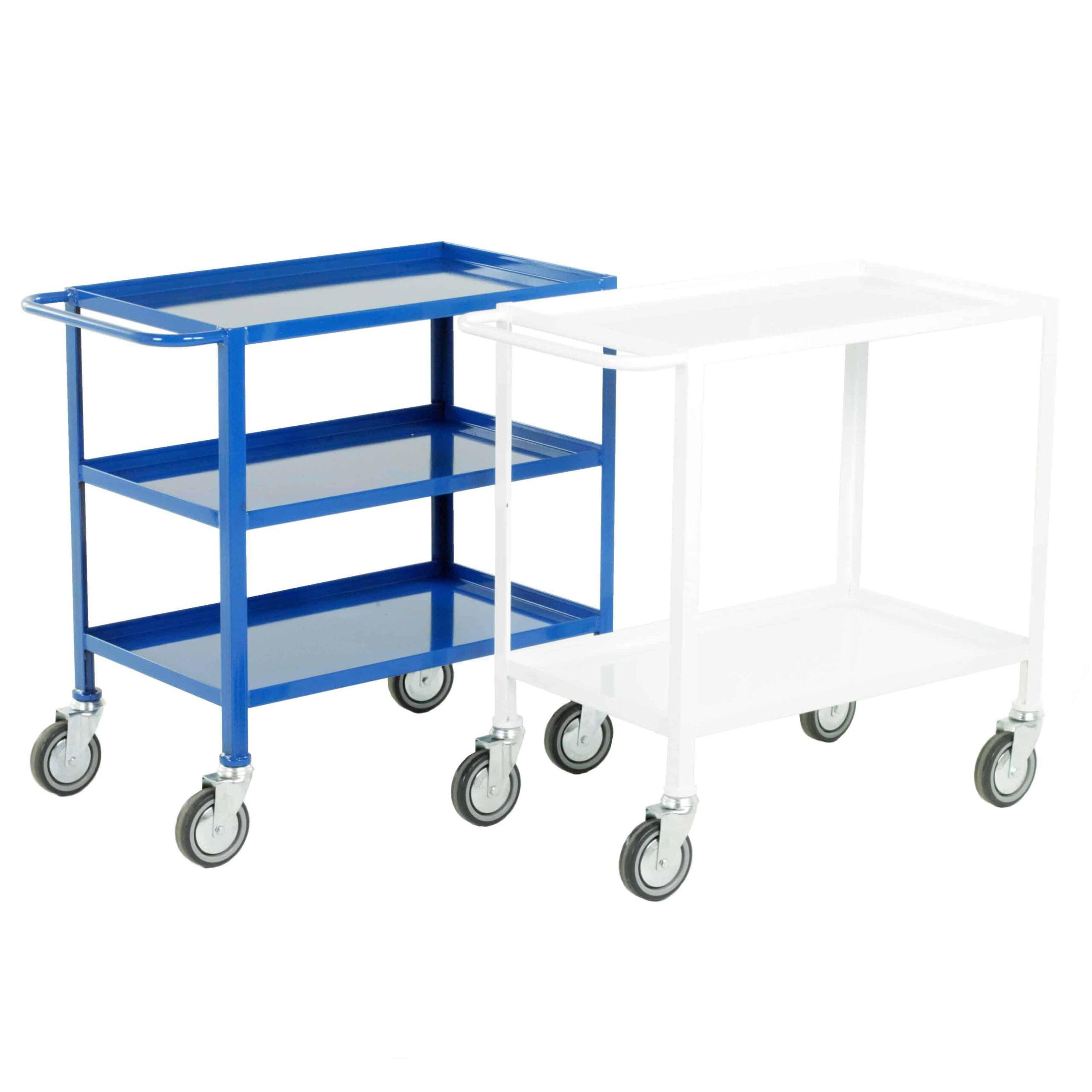 Low Cost Light Duty Fixed Steel Tray Trolleys