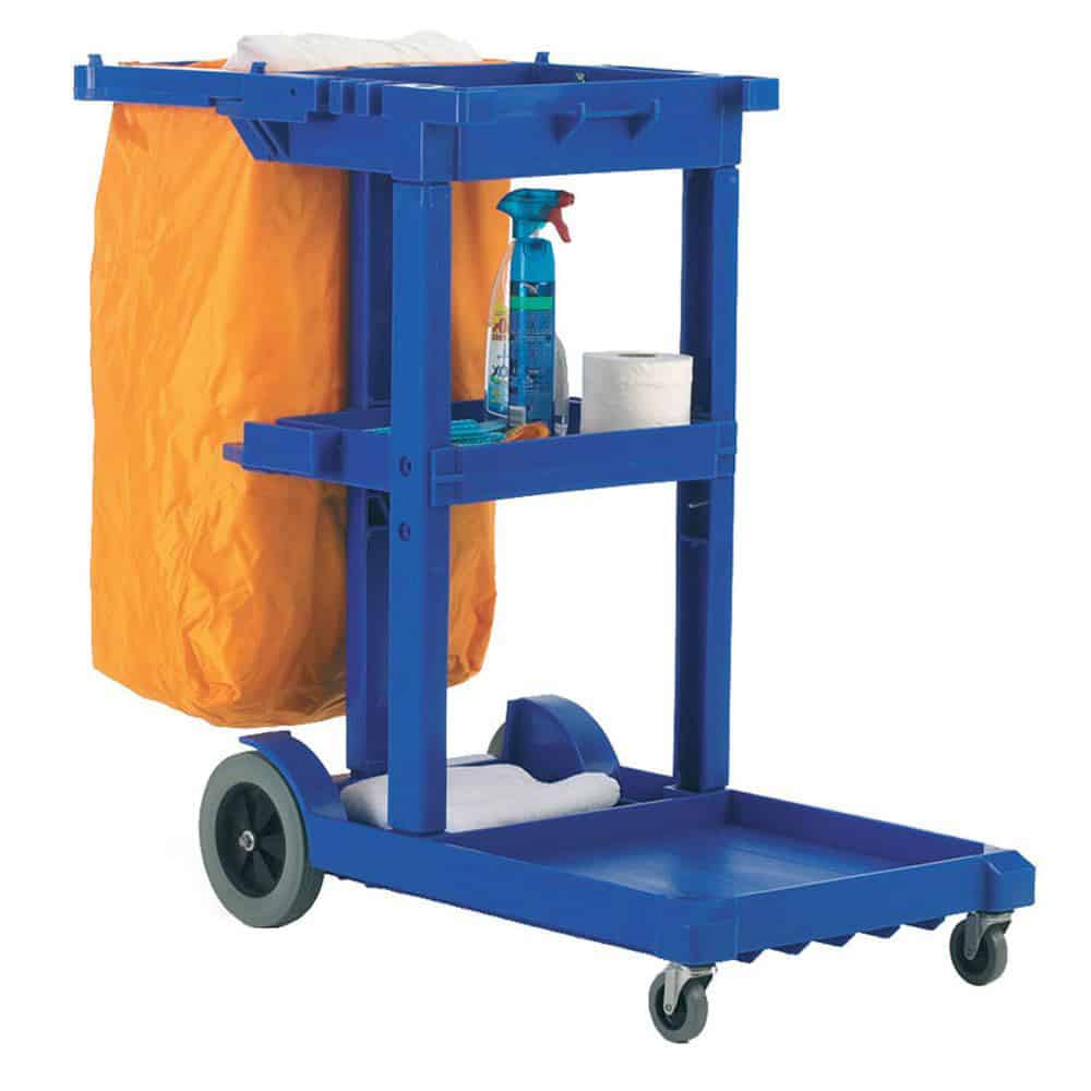 Durable Plastic Janitorial Cleaning Trolley